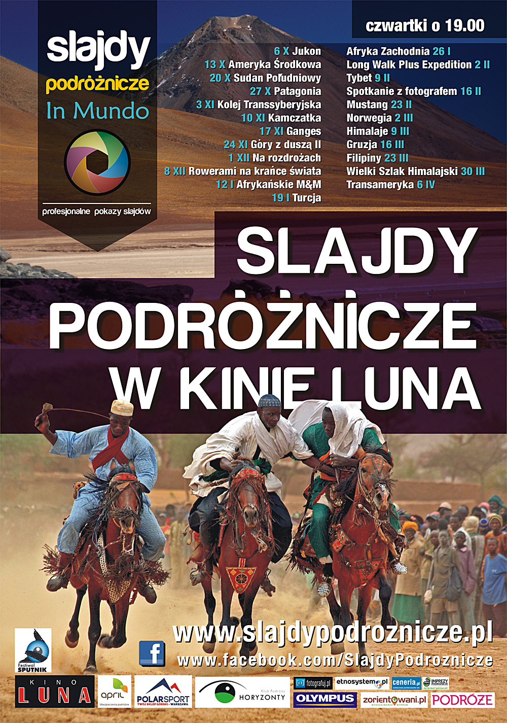 Slajdy Podróżnicze w kinie Luna - plakat