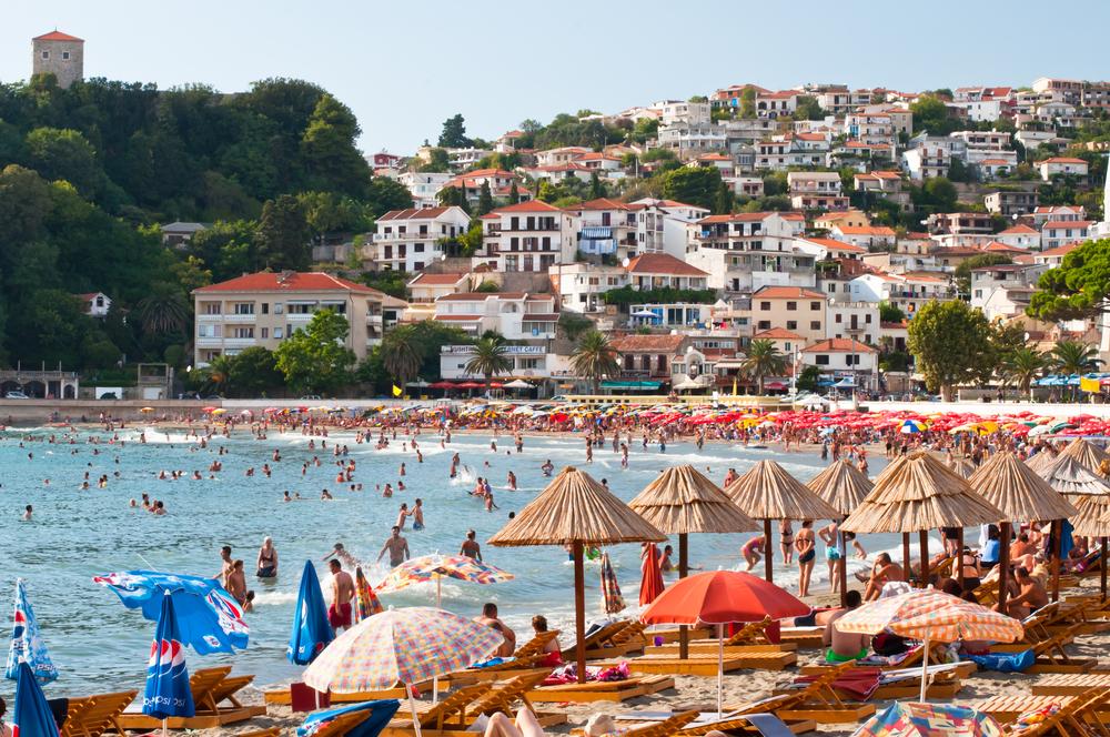 Czarnogóra, plaża w Ulcinju