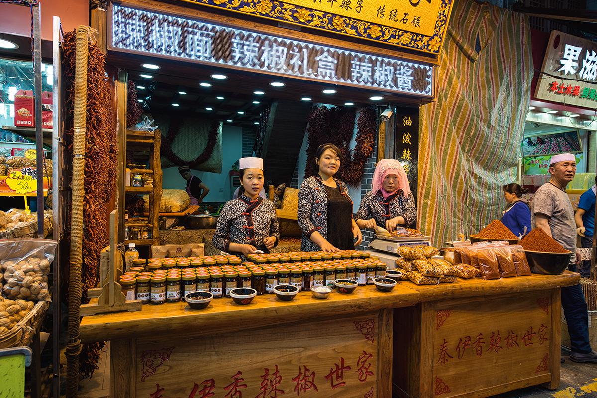 Dzielnicę muzułmańskę w Xi'an najlepiej odwiedzić wieczorem